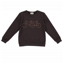 "Sweatshirt ""Mads"", black brown"