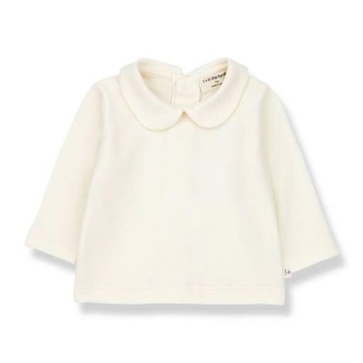 "1+ in the Family - Baby-Shirt ""Colette"", ecru"