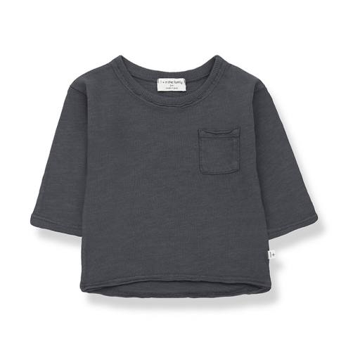 """1+ in the Family - Langarmshirt """"Pere"""", anthracite"""