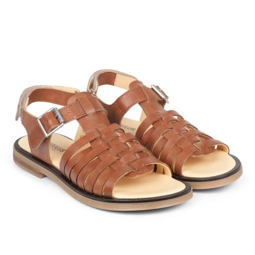 Angulus - Damen- und Kinder-Sandale, tan