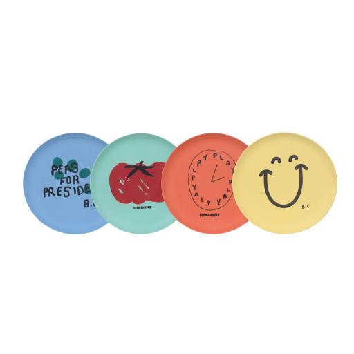 "Bobo Choses - Teller-Set  ""President Pack of Bamboo Plates''"