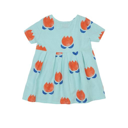 Bobo Choses - Baby Kleid ''Chocolate Flowers all Over Button''