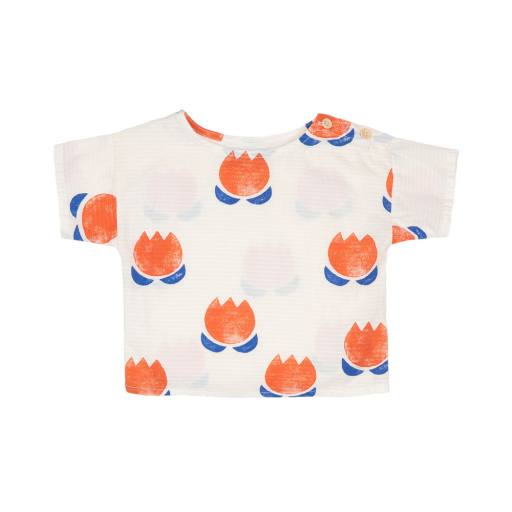 Bobo Choses - Baby T-Shirt ''Chocolate Flowers all Over''