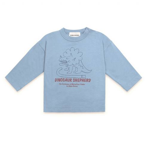 "Bobo Choses - Baby-Longsleeve ""Dino Long Sleeve T-Shirt"", blue"