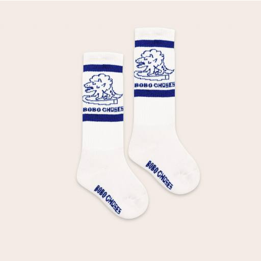 "Bobo Choses -Strümpfe ""Dino Long Socks"", white"