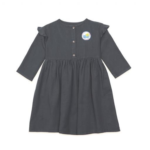 "Bobo Choses - Kleid ""Lucky Star Woven Dress"", dark grey"