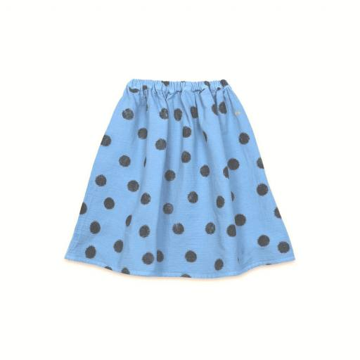 "Bobo Choses - Rock ""Spray dots woven skirt"", blue"