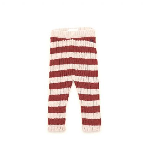 """Bobo Choses -Baby-Pants """"Stripped Knitted Leggings"""", red/beige"""