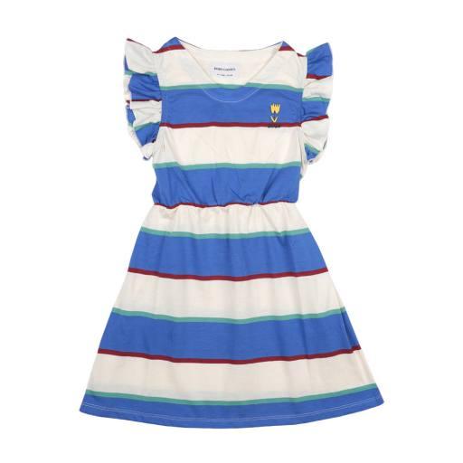 Bobo Choses - Kleid ''Stripes Jersey ruffle''