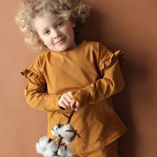 "by Kleines Karussell - Langarmshirt ""Girl Shirt"", buckthorn brown"