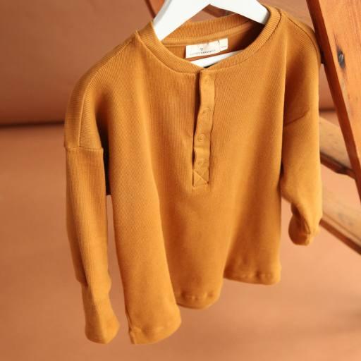 "by Kleines Karussell - Langarmshirt ""Unisex Henley Shirt"", buckthorn brown"