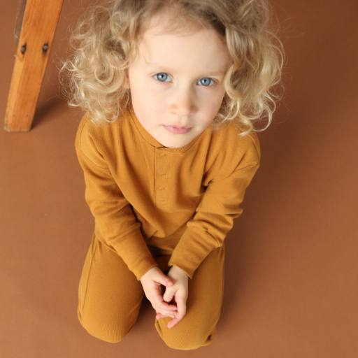 "by Kleines Karussell - Pyjamaset ""Unisex Set"", buckthorn brown"