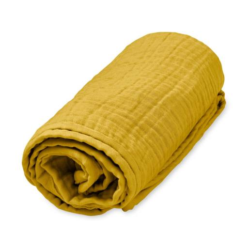 """Cam Cam Copenhagen - Mulltuchdecke """"Blanket"""" mustard"""