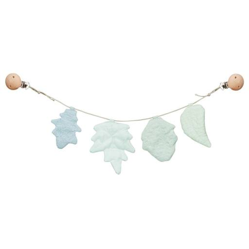 "Cam Cam Copenhagen - Kinderwagenkette ""Leaves"", mix blue"