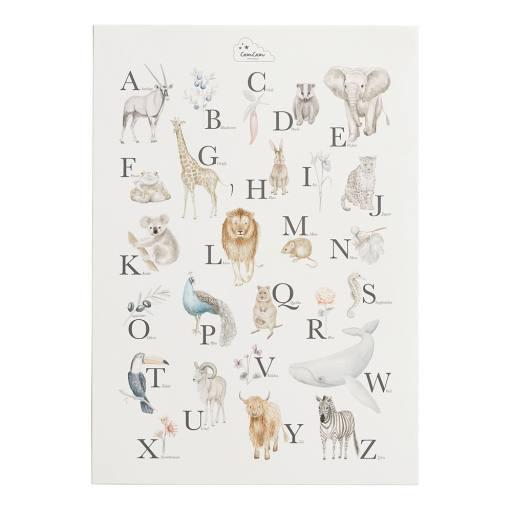 """Cam Cam Copenhagen -Poster """"Tier ABC"""" (A2) 59,4x42cm"""