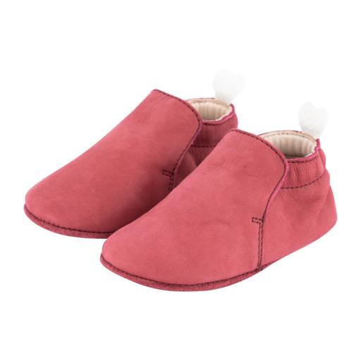 Carponi - Slipper Krabbelschuh ''Jamie'', red velvet