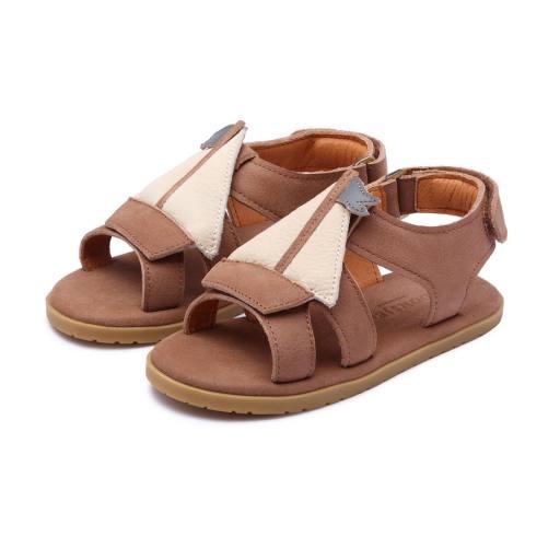 Donsje - Sandale ''Mattia Boat'', hazelnut leather
