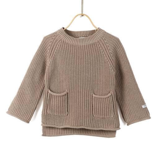 "Donsje - Sweater ""Stella'', light taupe"