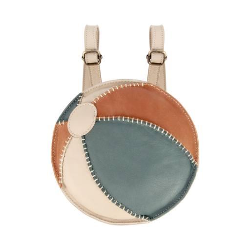 """Donsje - Rucksack """"Nino Beach Ball'', cream leather"""