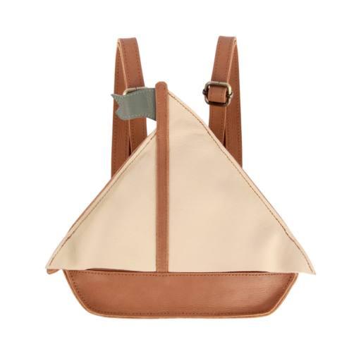 "Donsje - Rucksack ""Nino Boat'', nutmeg leather"