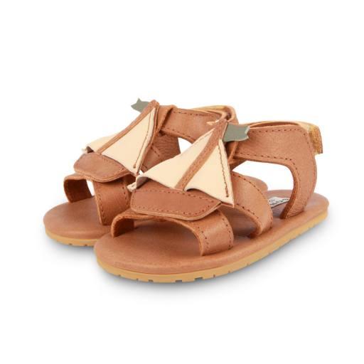 """Donsje - Kleinkindschuhe """"Flops Boat"""", nutmeg leather"""