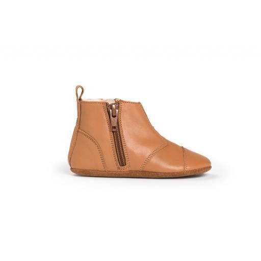 "Dusq -Lauflernschuh ""First Steps Shoe Leather"", sunset cognac"