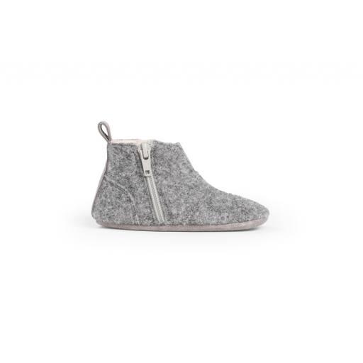 """Dusq -Lauflernschuh """"First Steps Shoe Wool"""", misty grey"""