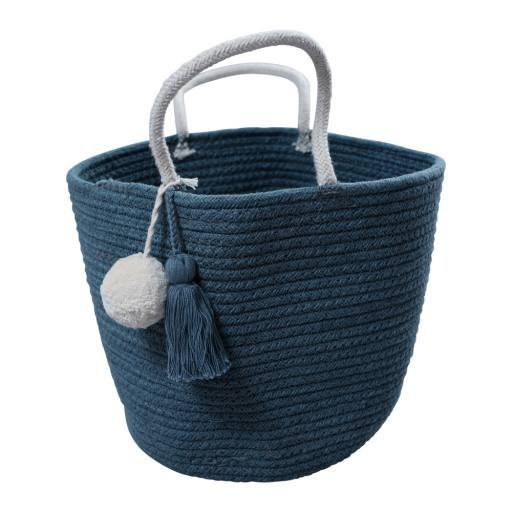 """Fabelab - kleiner Seilkorb """"Rope Basket"""" blue spruce"""