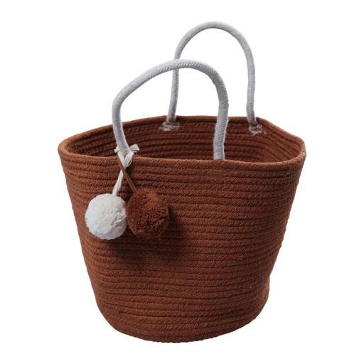 "Fabelab - kleiner Seilkorb ""Rope Basket"" cinnamon"