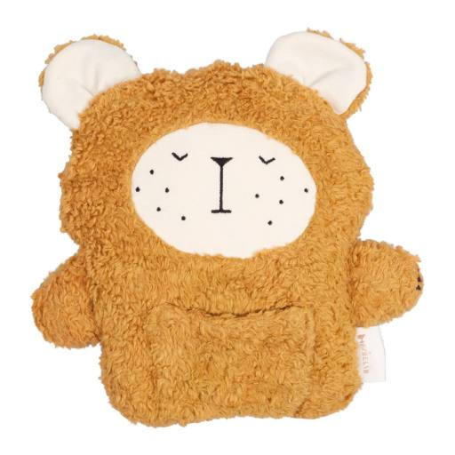 "Fabelab - Kuschel-Teddykissen ''Bear"", ochre"