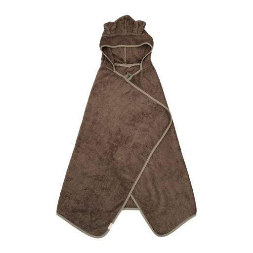"Fabelab - Bio-Badehandtuch ""Hooded Junior Towel Bear"", olive"