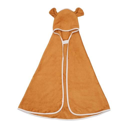 "Fabelab - Bio-Badehandtuch ""Hooded Baby Towel Bear"", ochre"
