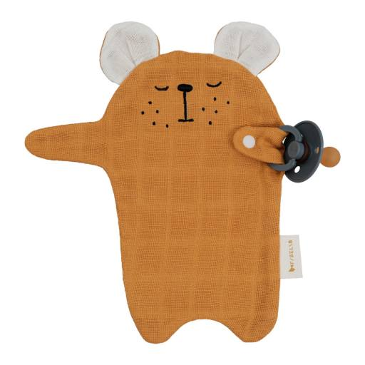 """Fabelab - Schnullertuch ''Parcifier Cuddle Bear"""", ochre"""