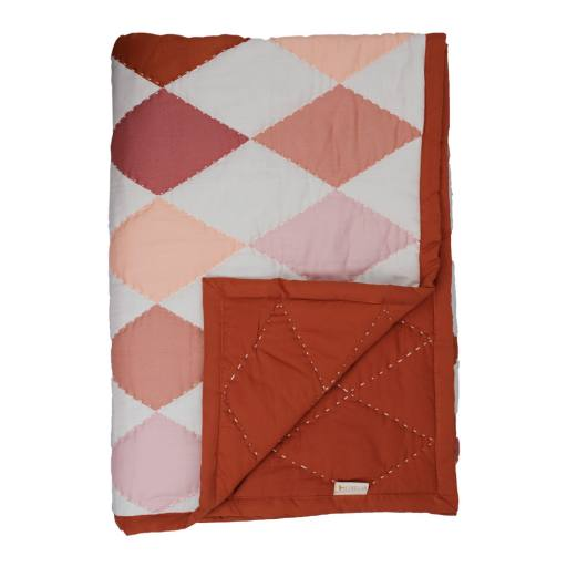 Fabelab - Tagesdecke Diamond'', rose mix