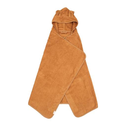 "Fabelab - Bio-Badehandtuch ""Hooded Junior Towel Bear"", ochre"