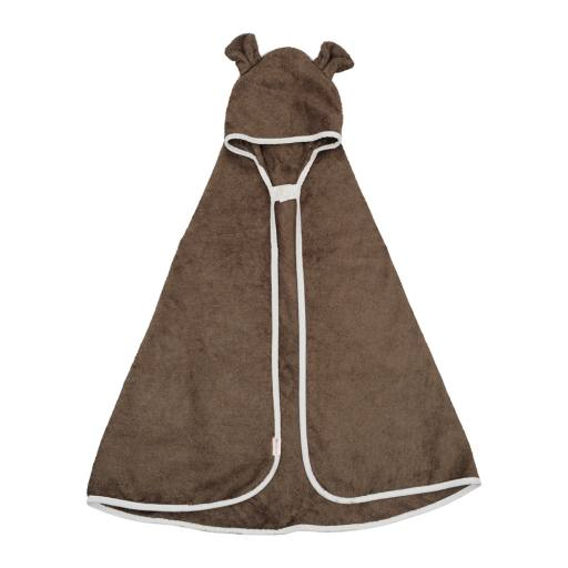 "Fabelab - Bio-Badehandtuch ""Hooded Baby Towel Bear"", olive"
