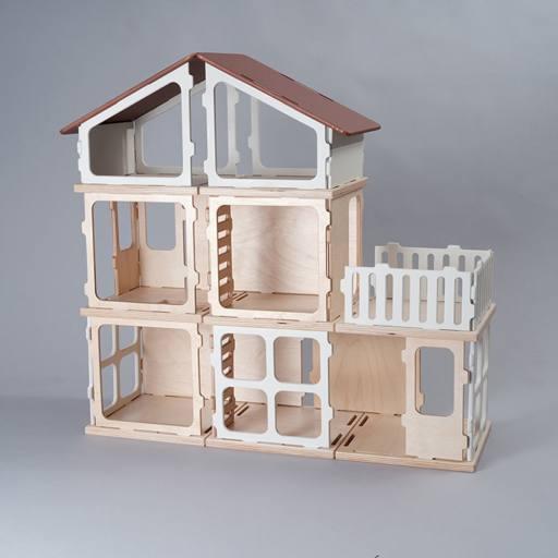 Fabelab - Erweiterungs-Set ''Puppen-Villa Add On Kit'', 15-teilig