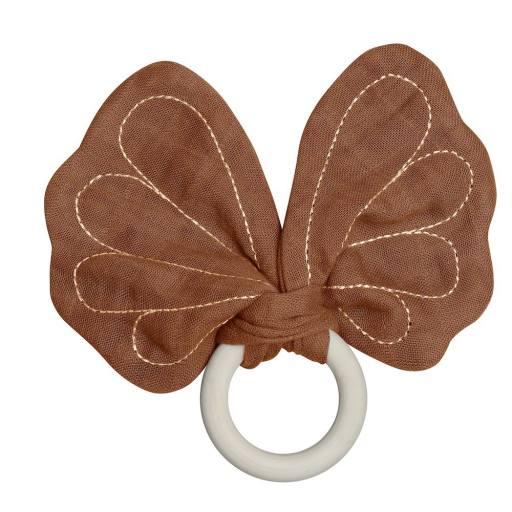 "Fabelab - Teether ""Butterfly"", cinnamon"