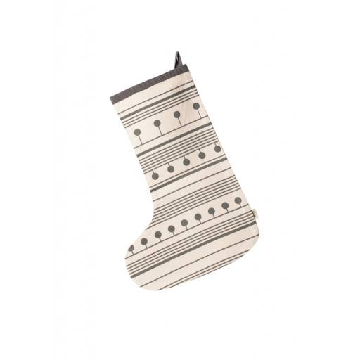 Ferm Living - Winterland Christmas Stocking, grey