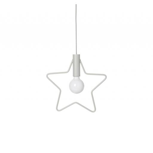 "Ferm Living - Lampe ""Star Pendant"", light grey"