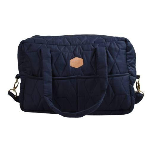 Filibabba - Wickeltasche, quilt dark blue