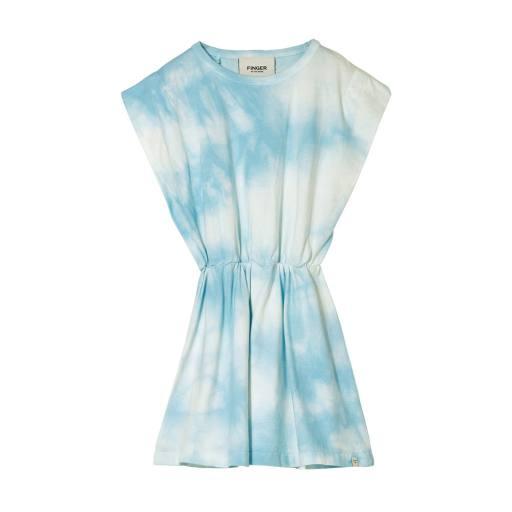 Finger in the Nose - Sleeveless Dress ''Billie'', blue tie & dye