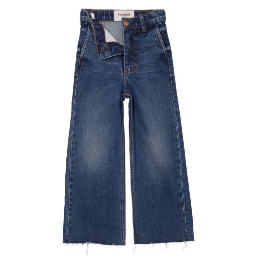 Finger in the Nose - Cropped Jeans ''Charlie'', medium blue