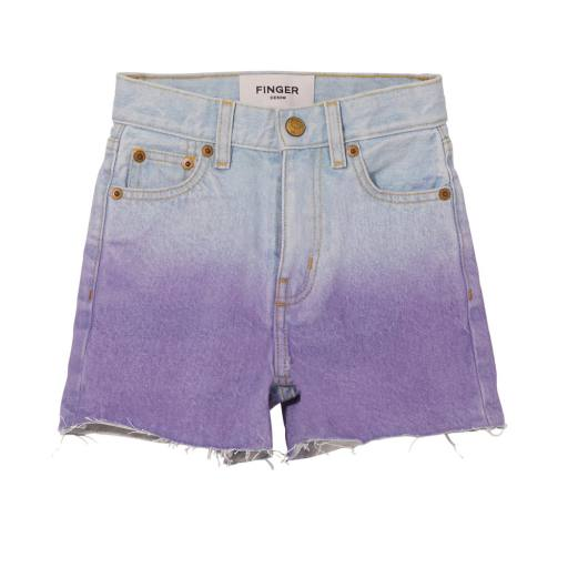 Finger in the Nose - High Waist Shorts ''Cherryl'', bleached blue/ parma