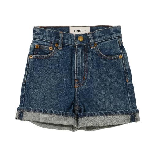 Finger in the Nose - High Waist Shorts ''Cherryl'', medium blue