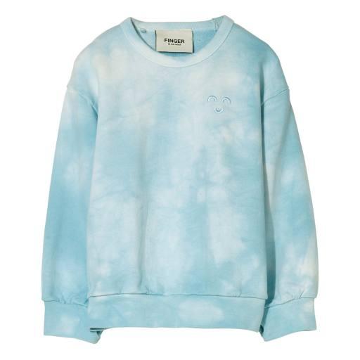Finger in the Nose - Sweater ''Wind'', cloud blue tie & dye