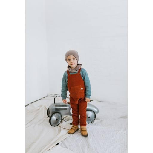 "Frankie & Lou -Cord-Latzhose ""Mika Corduroy Jumpsuit"", rust"