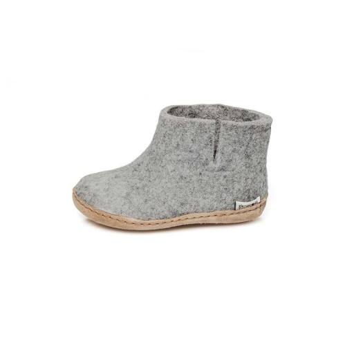 "Glerups -Kinder-Hausschuhe ""Boot Junior"", grey"