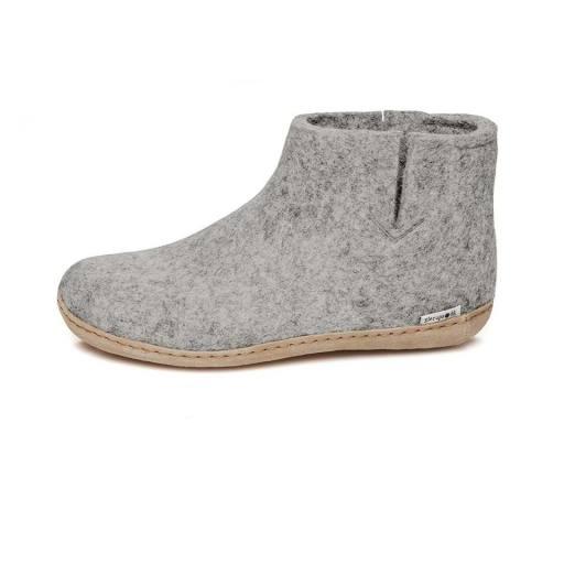"Glerups -Erwachsenen-Hausschuhe ""Boot Leather"", grey"