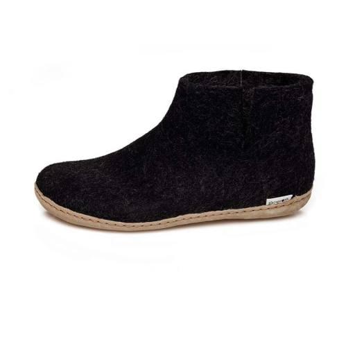 """Glerups -Erwachsenen-Hausschuhe """"Boot Leather"""", charcoal"""